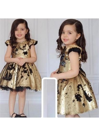 Quzucuk Kids Kız Çocuk Pulpayet Parti- Doğum Günü Elbisesi Renksiz